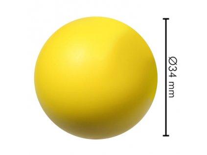 Míček na stolní fotbal tvrdý Žlutý