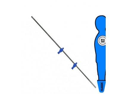 Tyč na stolní fotbal 16 mm s 2 modří hráči
