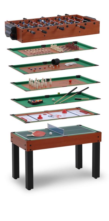 Stolní fotbálek Garlando MULTI-12 multifunkční hrací stůl s 12 hrami