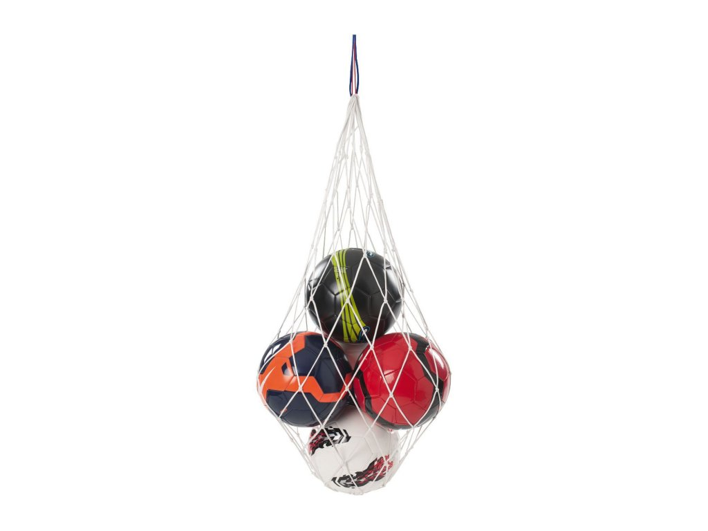 Síť na míče bílá b+d (Množství 20 míčů)