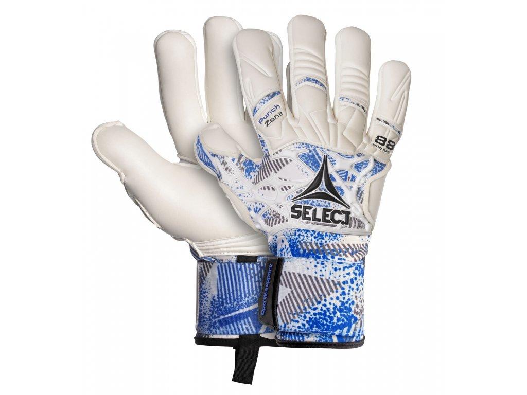 Brankářské rukavice Select GK gloves 88 Pro Grip Negative cut bílo modrá barva