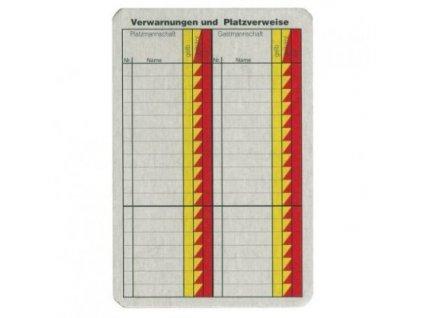 Karta do zápisníku pro rozhodčí