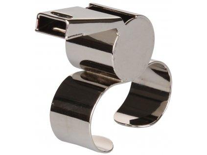 píšťalka na prsty kovová