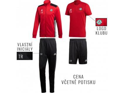 set adidas červená černá