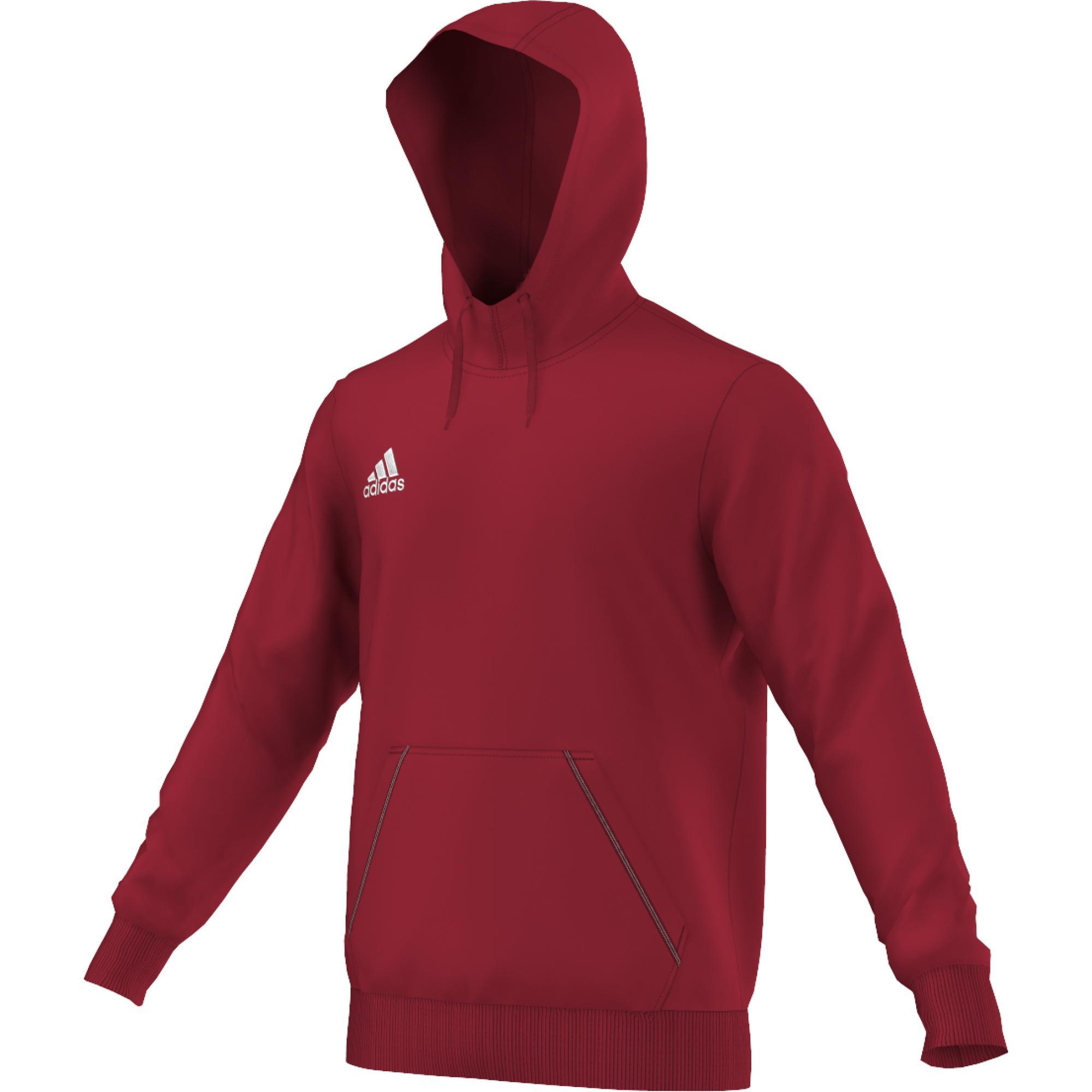 Adidas Mikina Coref HOODY dětská Barva: Červená, Velikost: 140