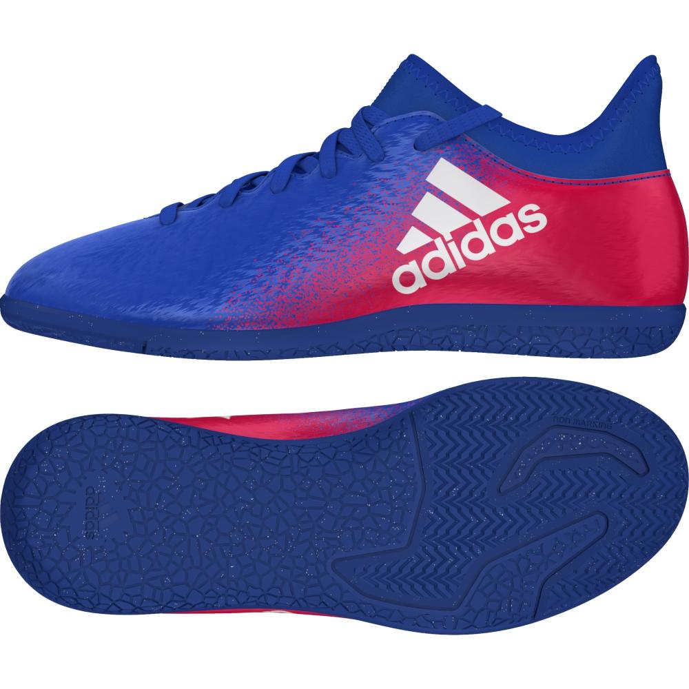 Adidas Dětské Sálovky X 16.3 Barva: modrá/červená, Velikost: 32
