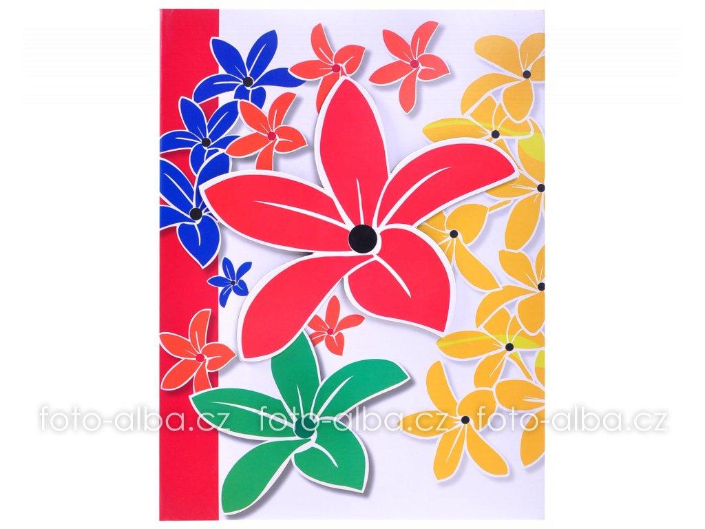 fotoalbum carnival flowers cervena