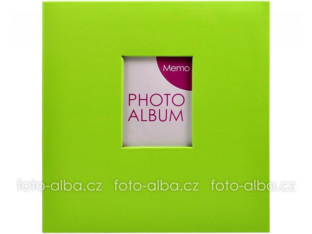 foto-album zelené s okénkem
