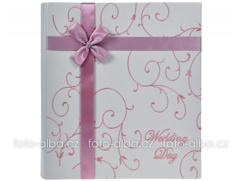 foto-album svatební růžová mašle