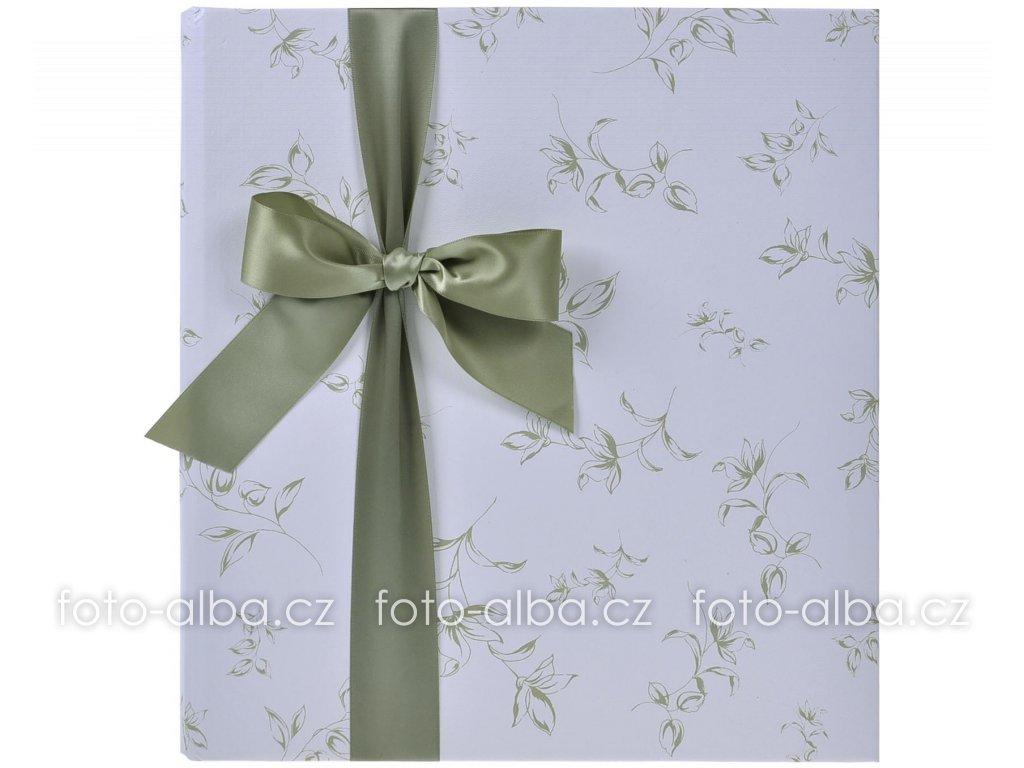 foto-album svatební zelená mašle
