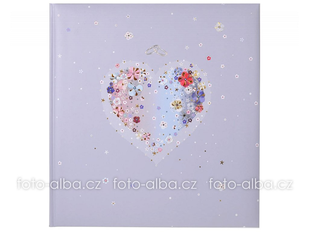 fotoalbum kvetinove srdce goldbuch