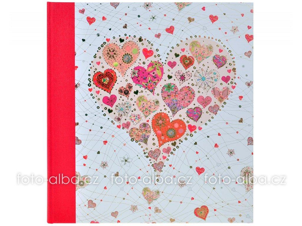 fotoalbum růžové srdce goldbuch
