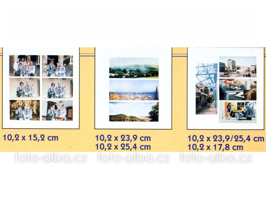 fotoalbum knihovna combi modrá