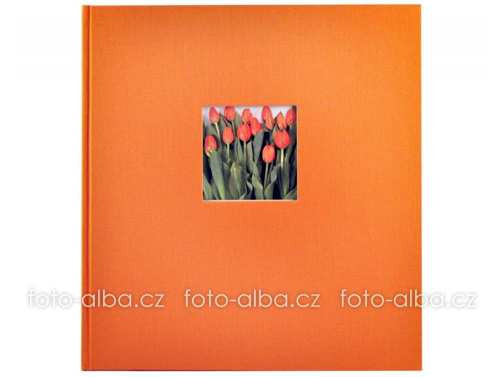 fotoalbum klasicke goldbuch oranzove