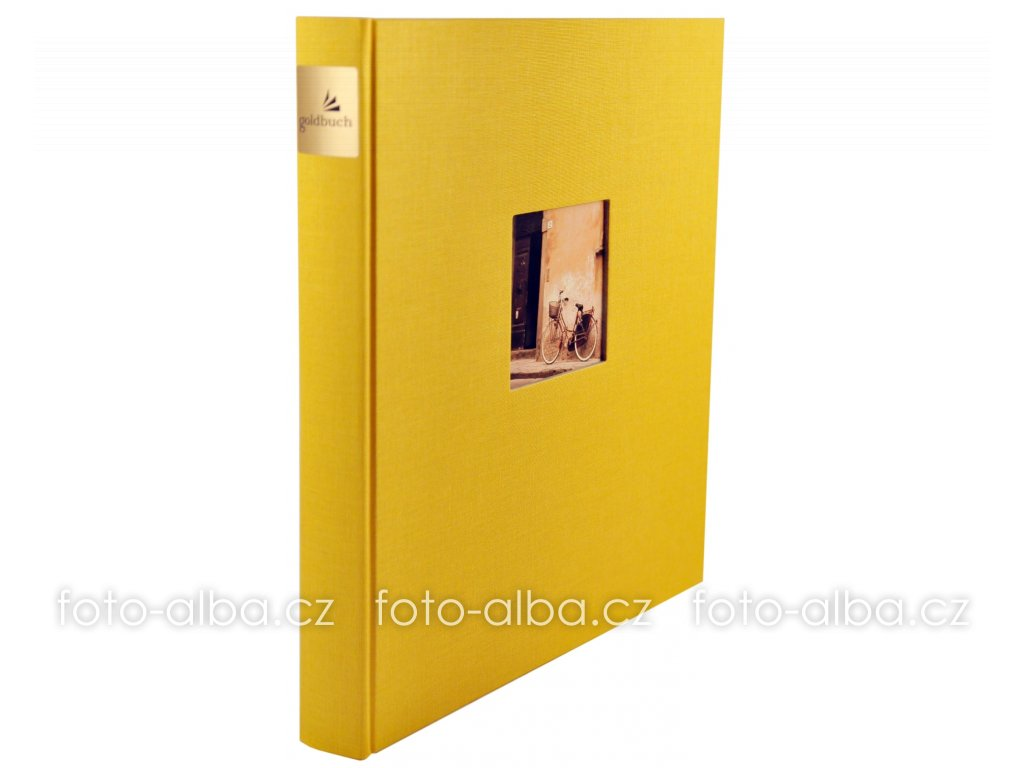 fotoalbum bella vista goldbuch zlute cerne listy