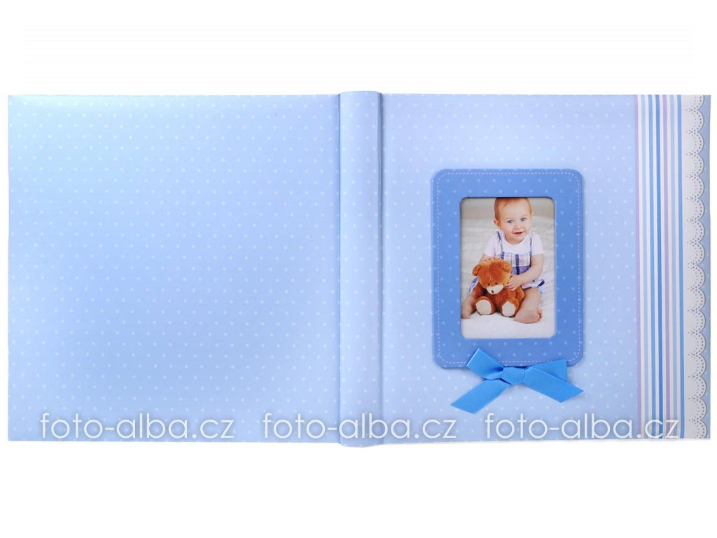 fotoalbum modrá stuha