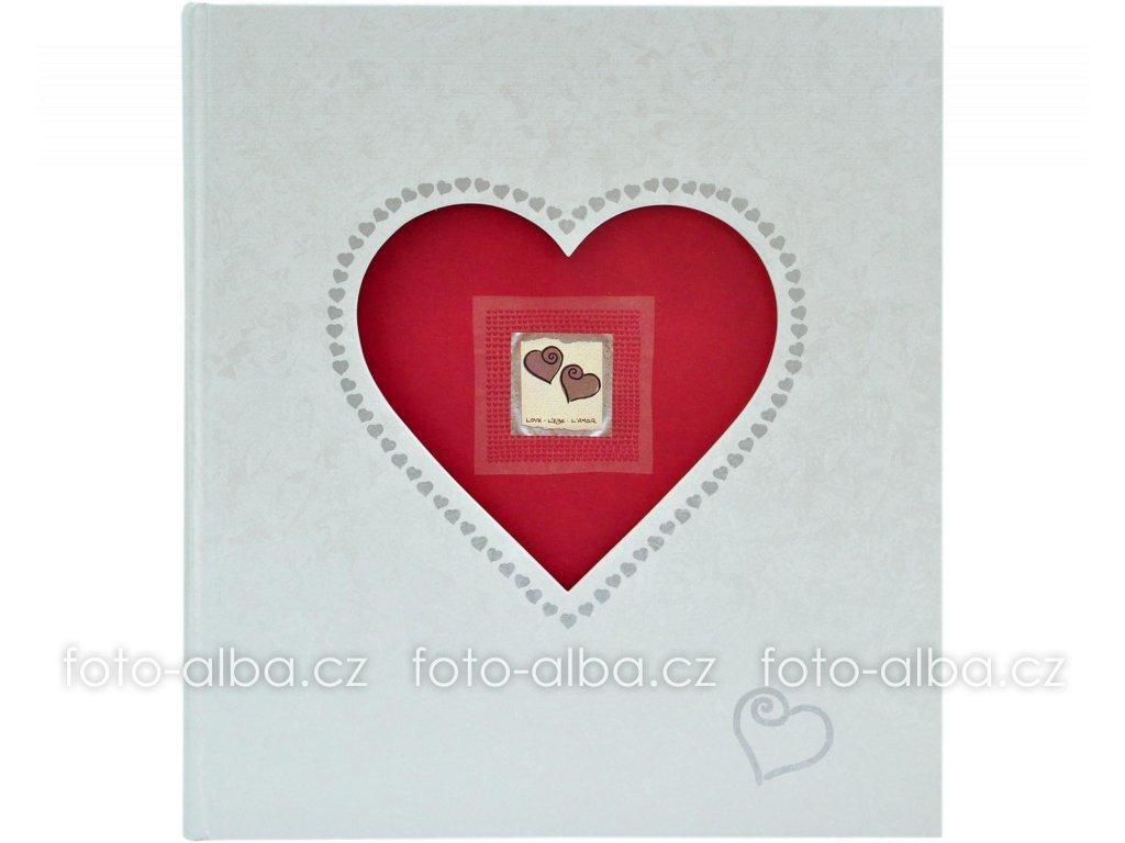 velke srdce svatebni fotoalbum