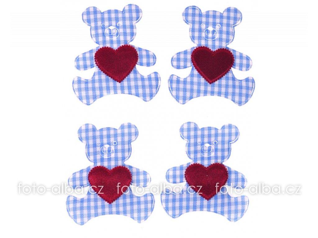 scrapbook nálepky medvídek modrý