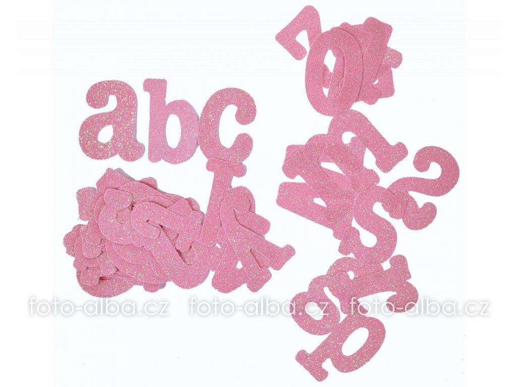 scrapbook písmenka růžová
