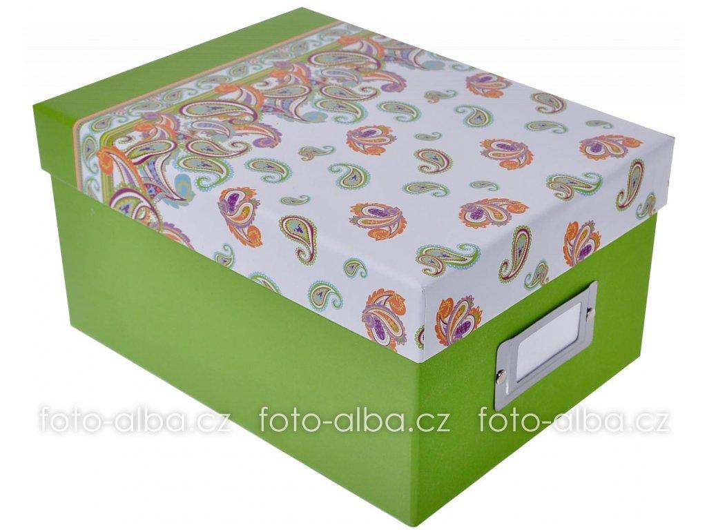 foto box paisley zeleny