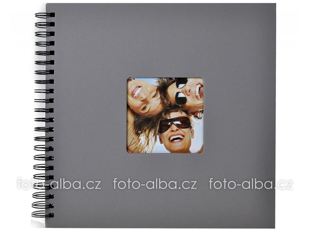 foto-album fun spirala šedé