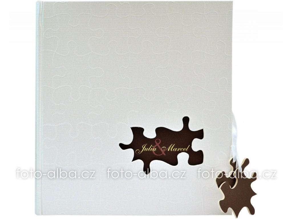 puzzle klasicke svatebni fotoalbum goldbuch