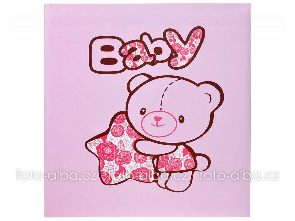 album medvídek růžový
