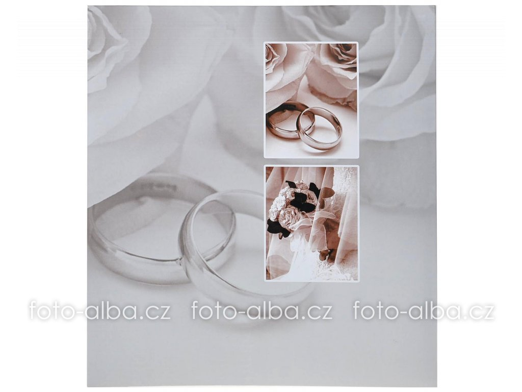 samolepicí fotoalbum svatební prstýnky tradag