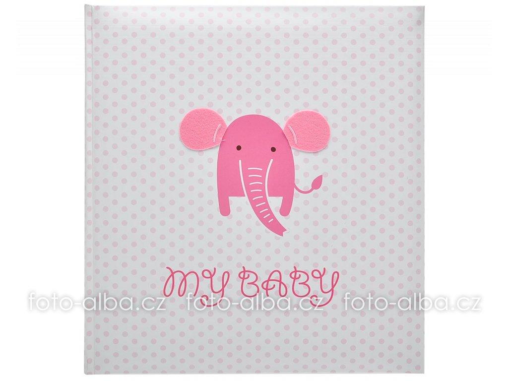 Fotoalbum baby elefant růžové