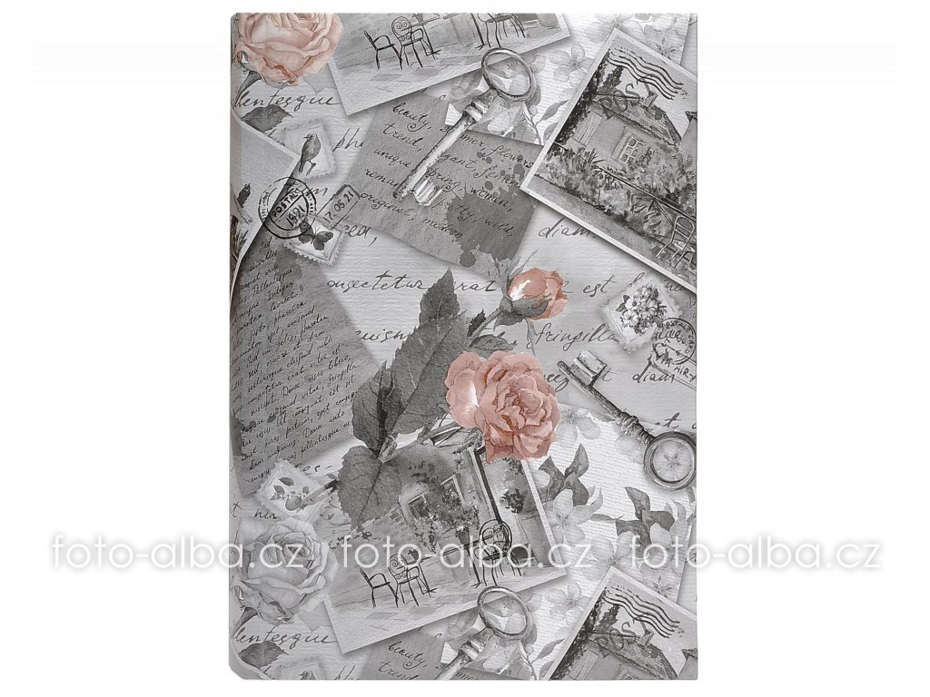Album Romantic roses šedé