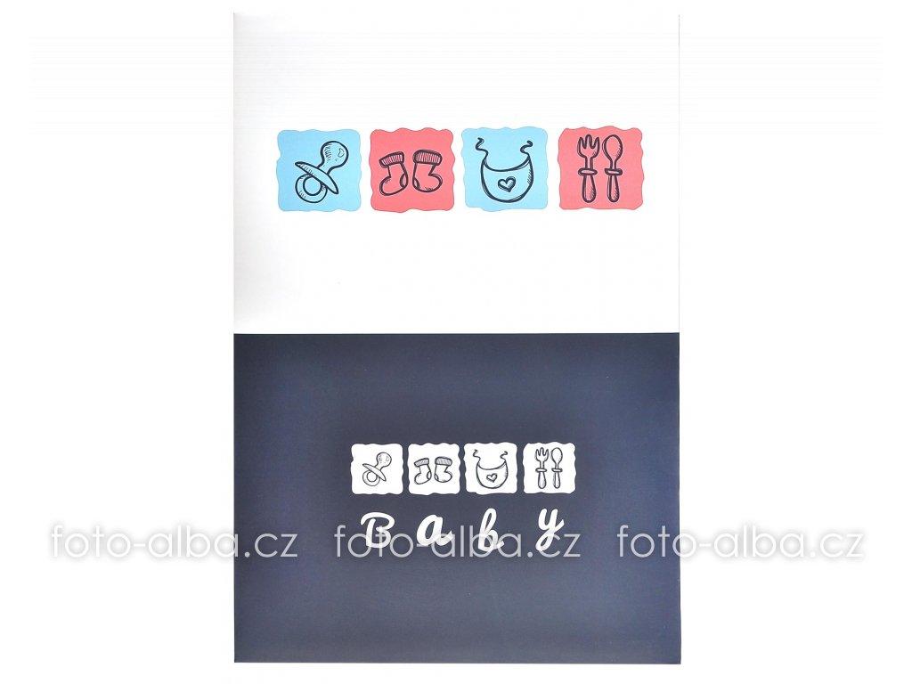 Fotoalbum Baby book modré
