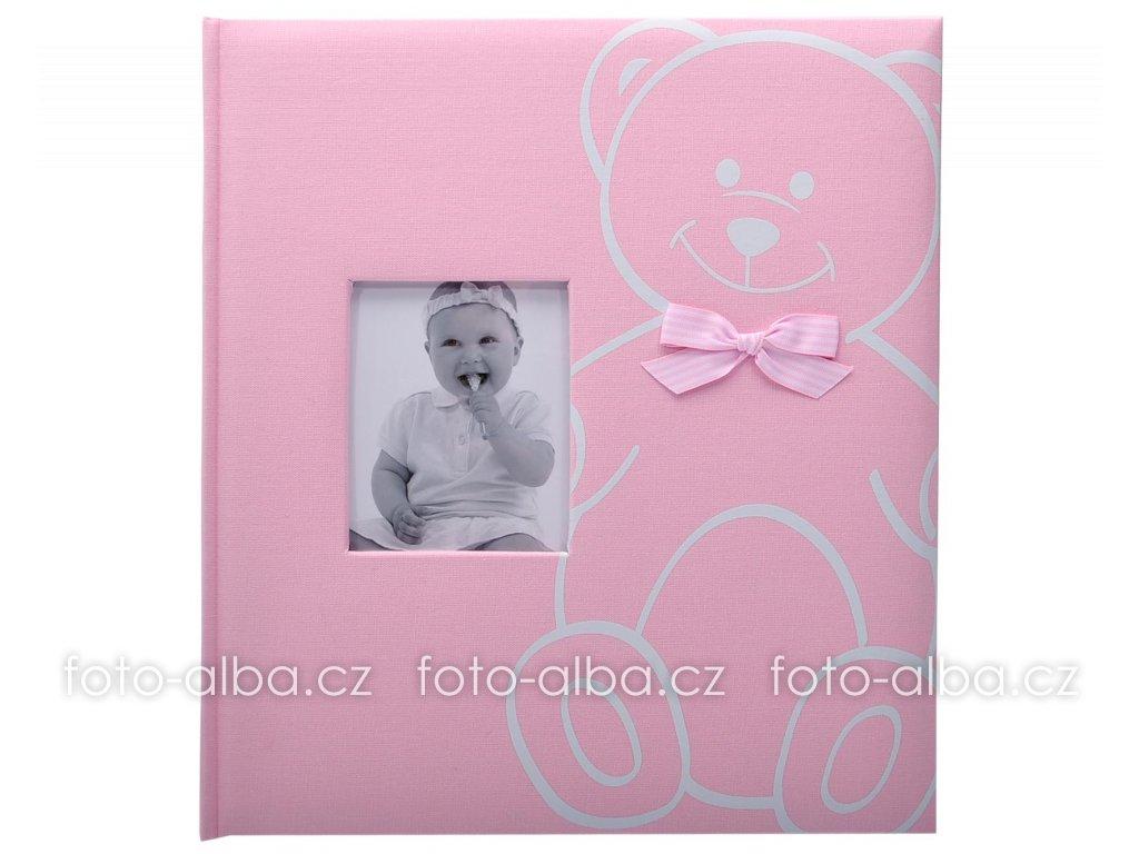 fotoalbum baby bear růžové