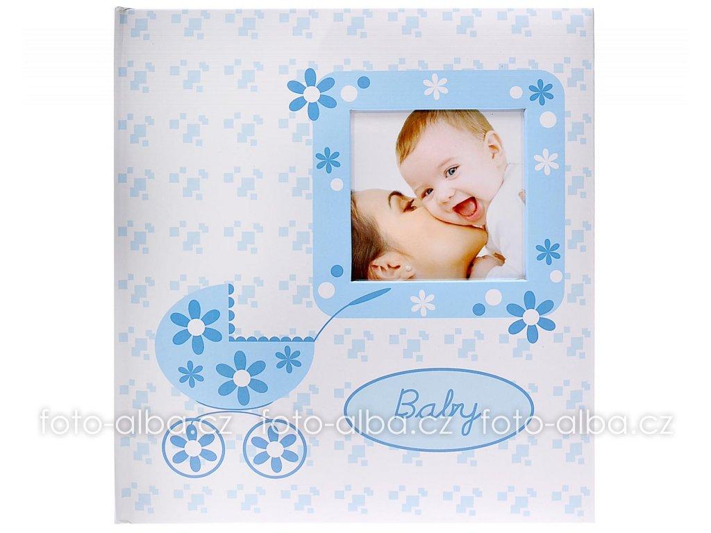 Fotoalbum baby buggy modré