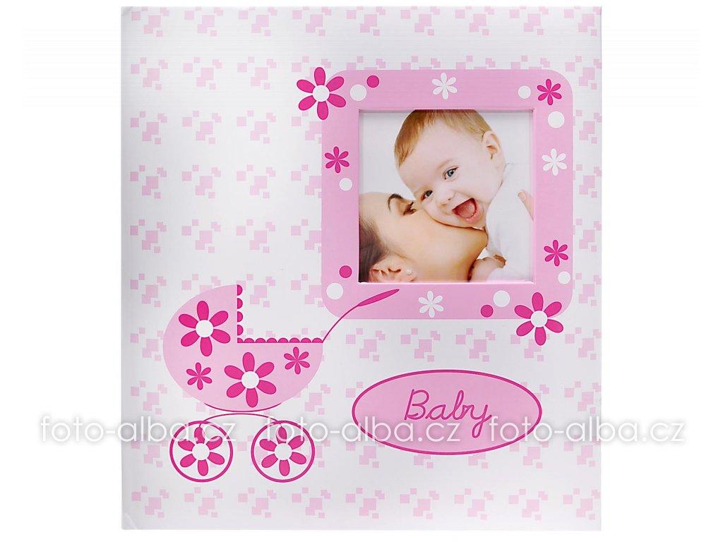 fotoalbum baby buggy růžové