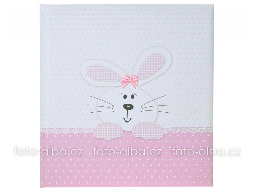 detske fotoalbum bunny pink