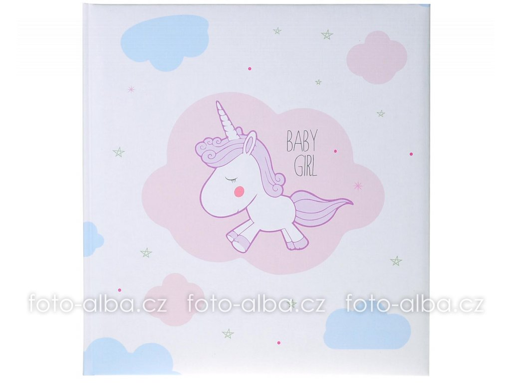 dětské fotoalbum unicorn baby girl