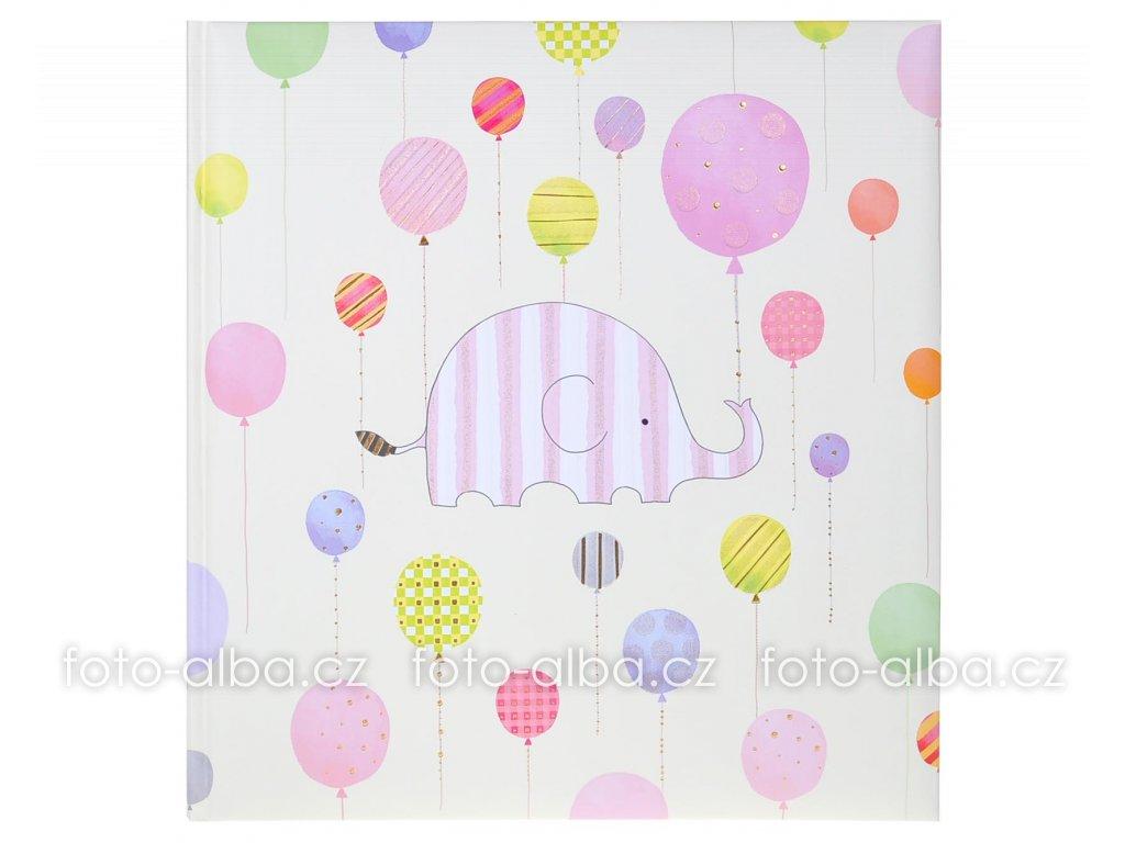 fotoalbum happy elephant růžový