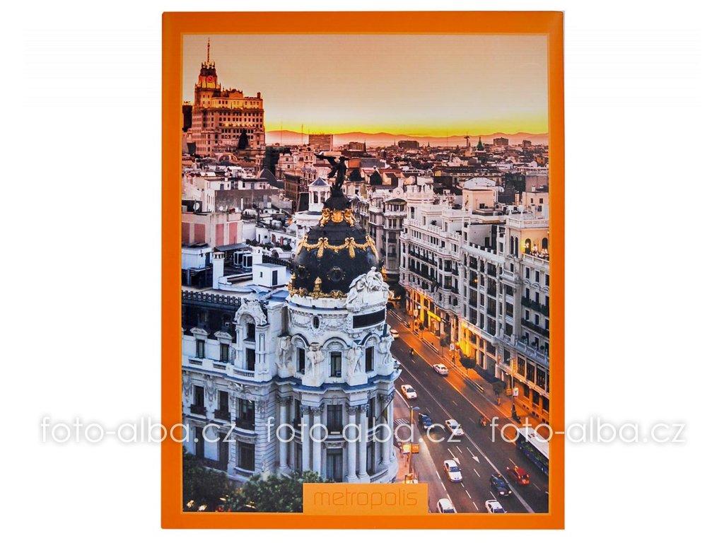 fotoalbum metropolis oranzove 13x18