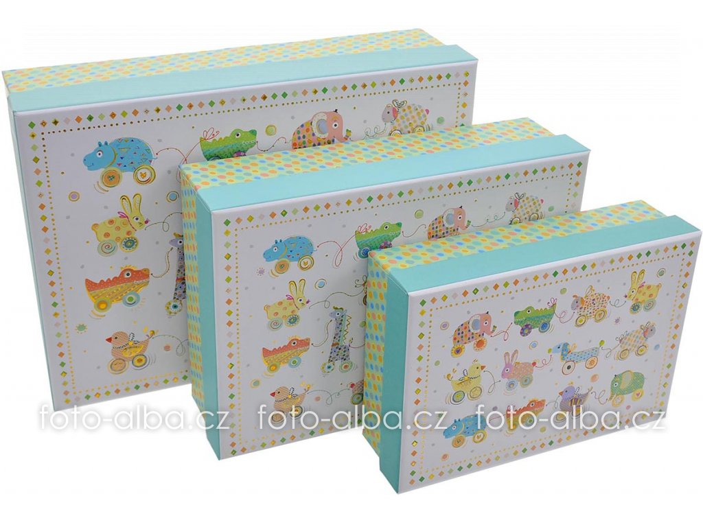 set goldbuch box animals on wheels 2