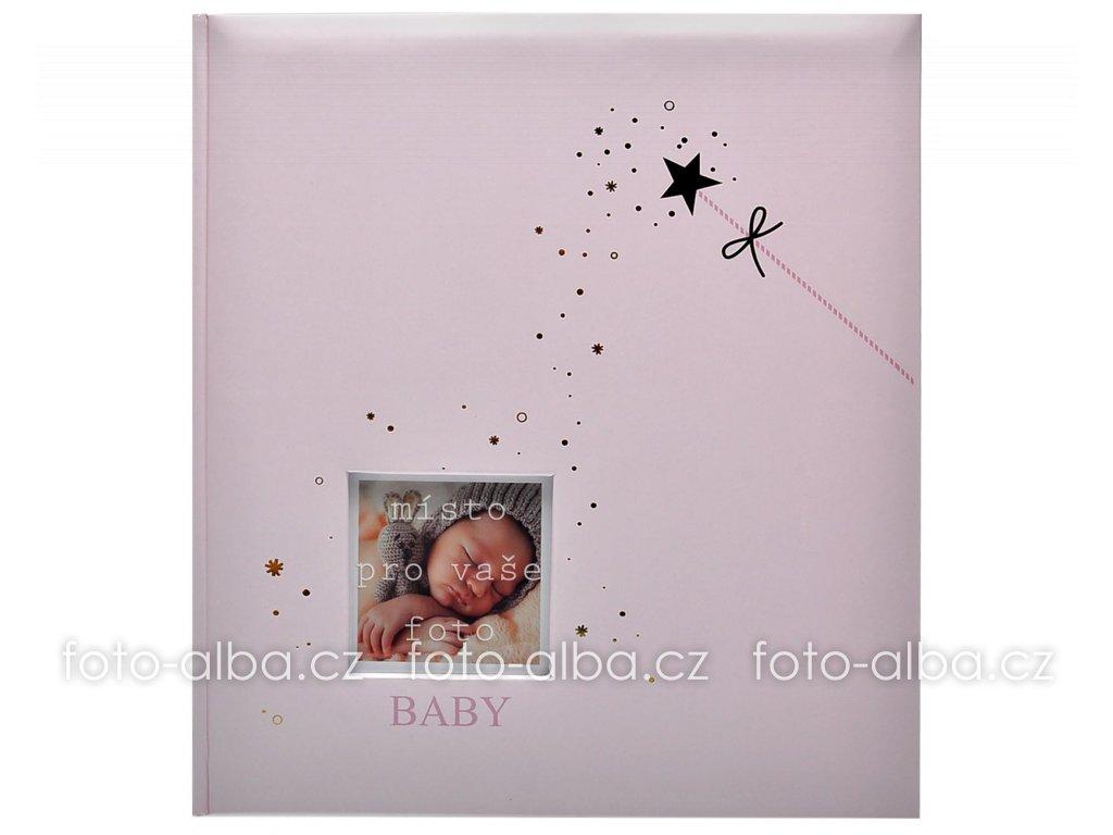 fotoalbum baby stars pink