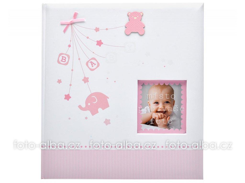 fotoalbum baby start pink