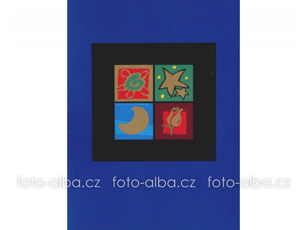 foto-album sešitek okno modré