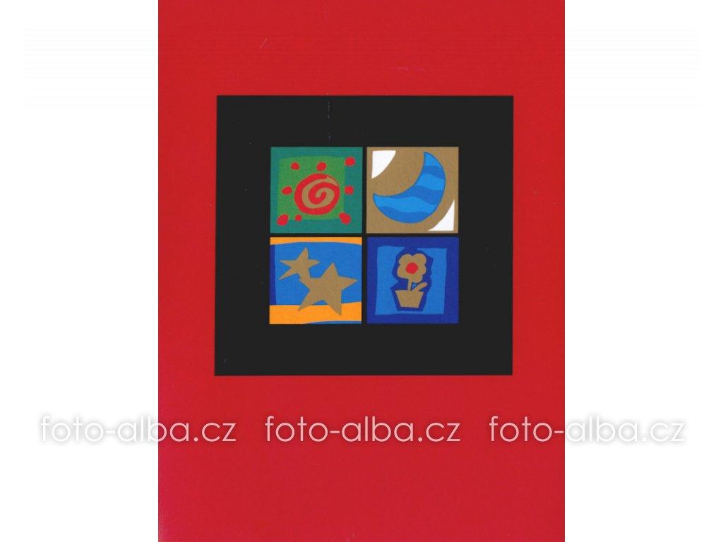 foto-album sešitek okno červené