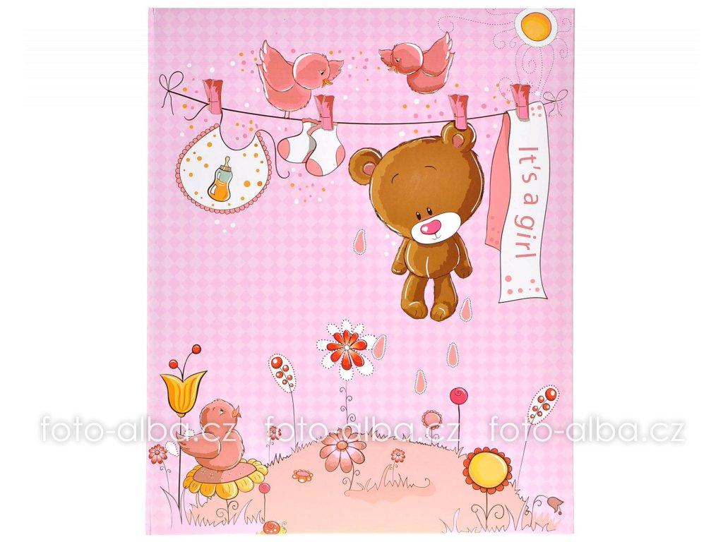 foto-album medvídek růžový