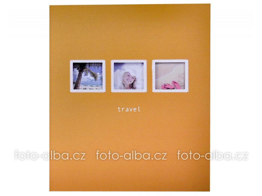fotoalbum travel žluté okna