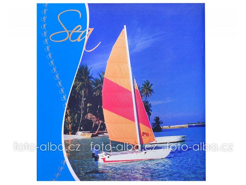 fotoalbum modré plachetnice