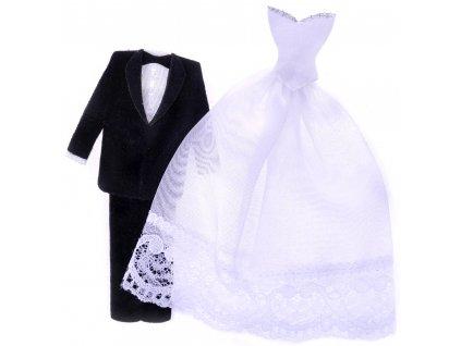 scrapbook nálepky svatební šaty