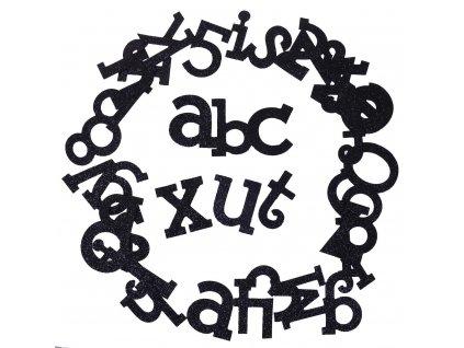 scrapbook písmenka černá set