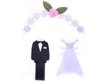 scrapbook nálepky svatba