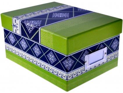 valencia krabice na fotky zelená
